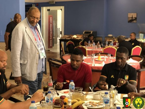 Samuel Eto'o visits Indomitable Lions den - Journal du Cameroun