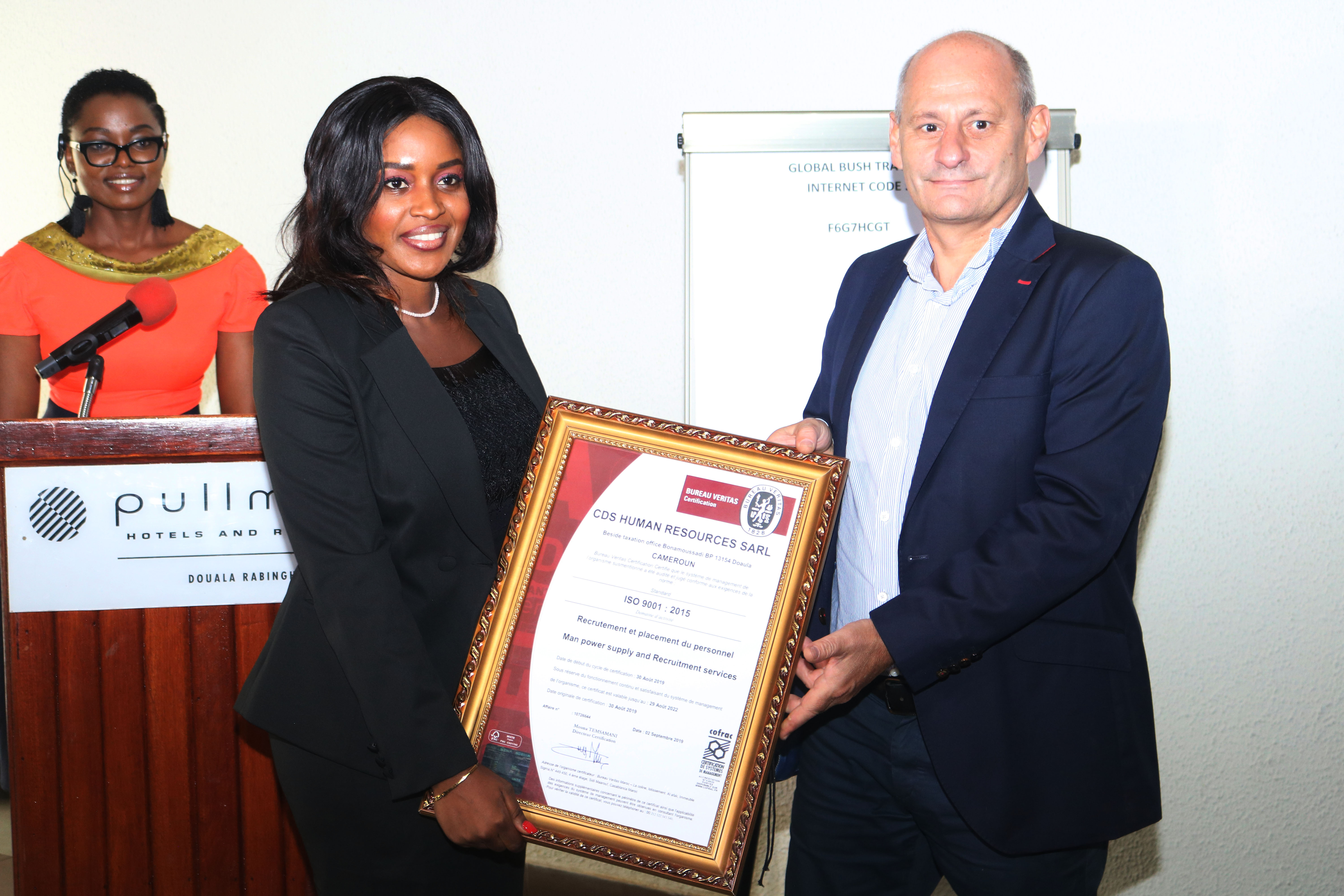Conformity With International Standards Cdshr Ltd Becomes Lone Iso 9001 2015 Certified Human Resource Company In Cameroon Journal Du Cameroun